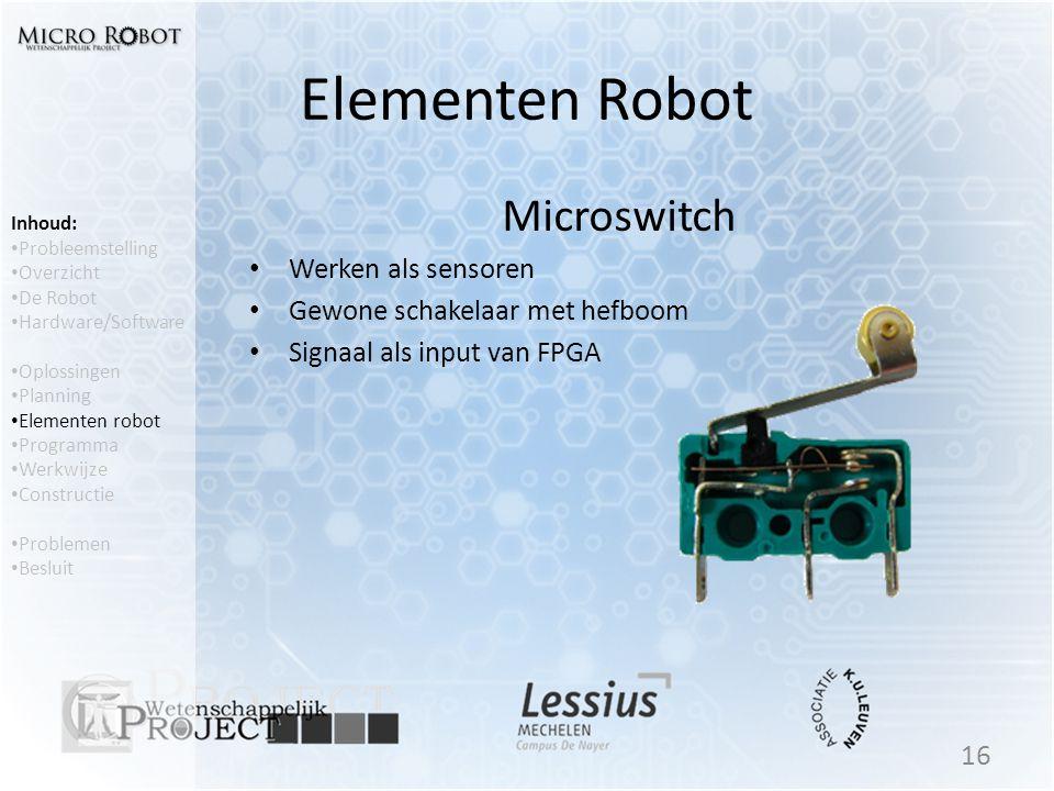 Elementen Robot Microswitch Werken als sensoren