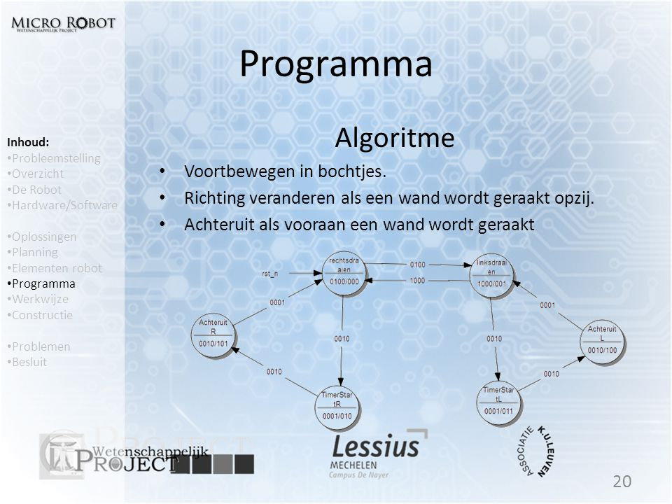 Programma Algoritme Voortbewegen in bochtjes.