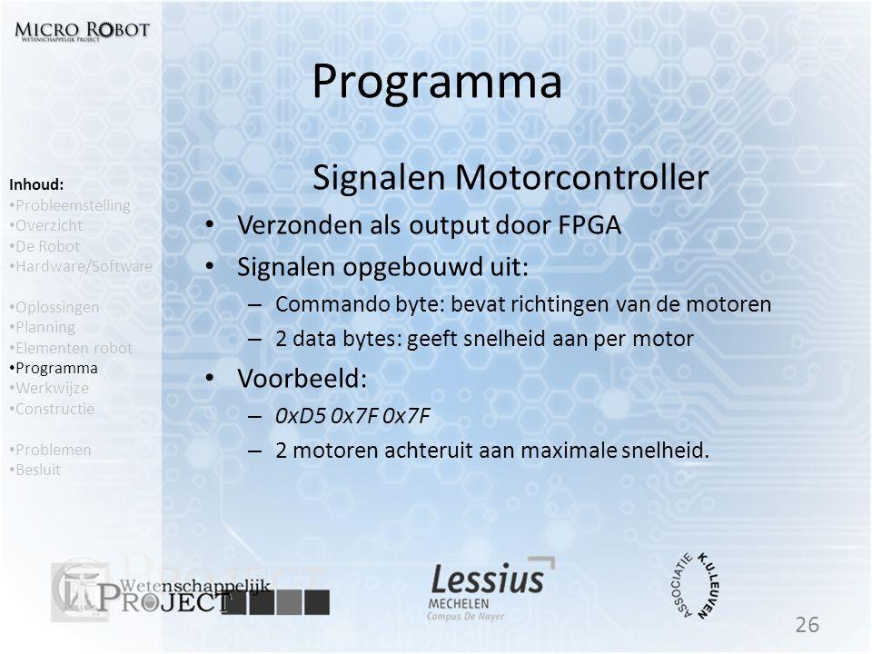Signalen Motorcontroller