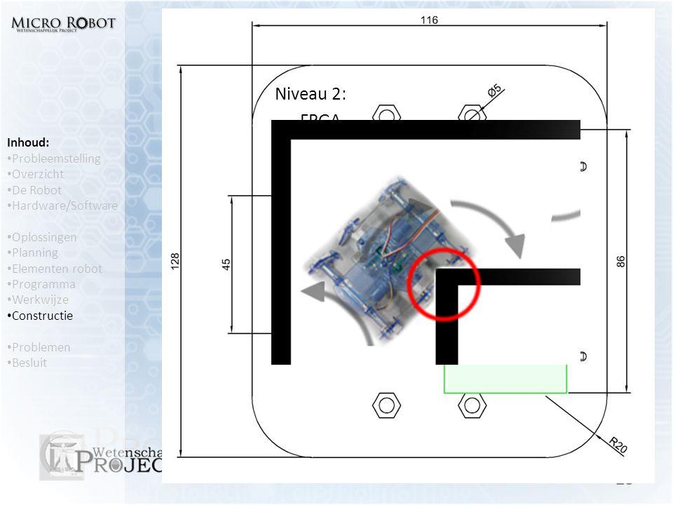 Constructie Niveau 2: FPGA Ontwerp van de constructie op AutoCAD