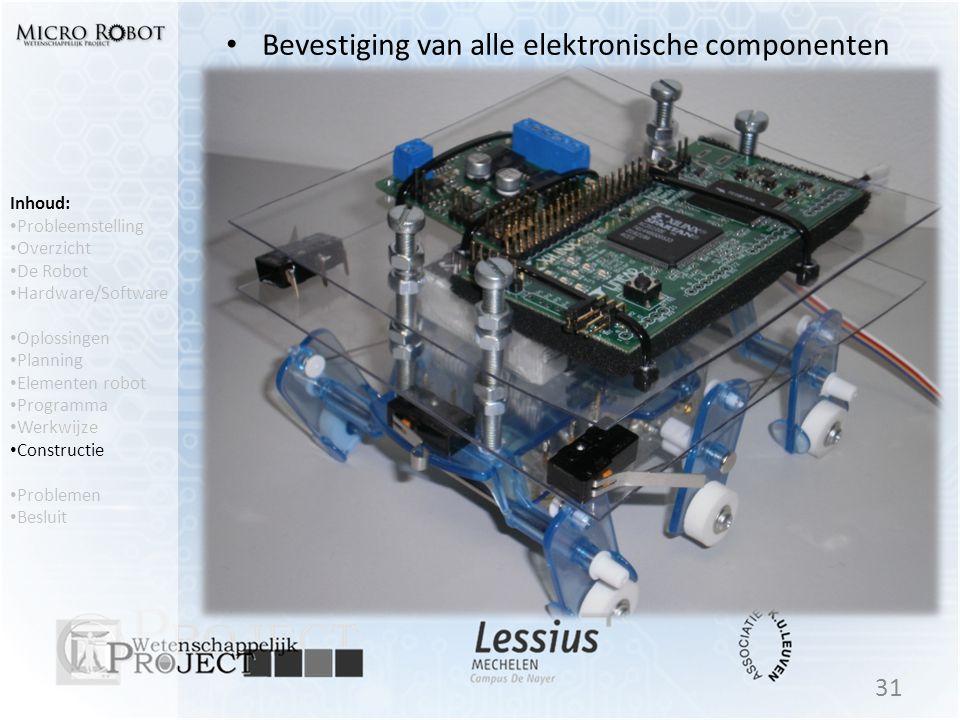 Bevestiging van alle elektronische componenten