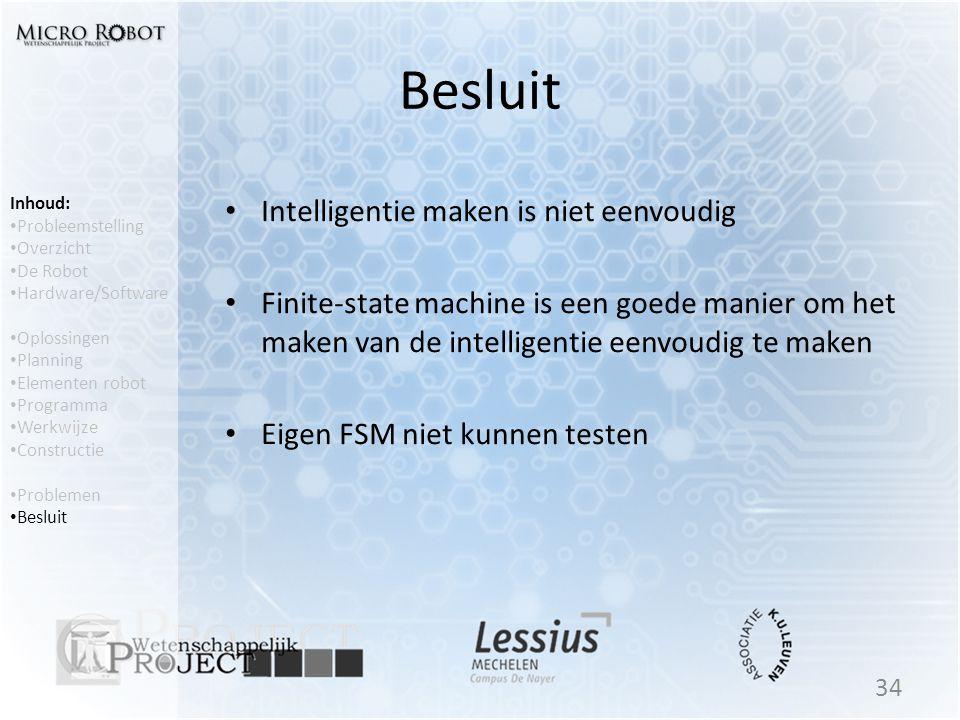Besluit Intelligentie maken is niet eenvoudig