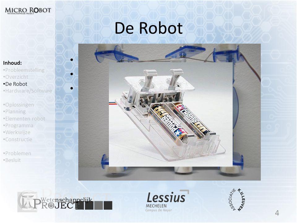 De Robot Tamiya Insect 2 Motoren Bediening Inhoud: Probleemstelling