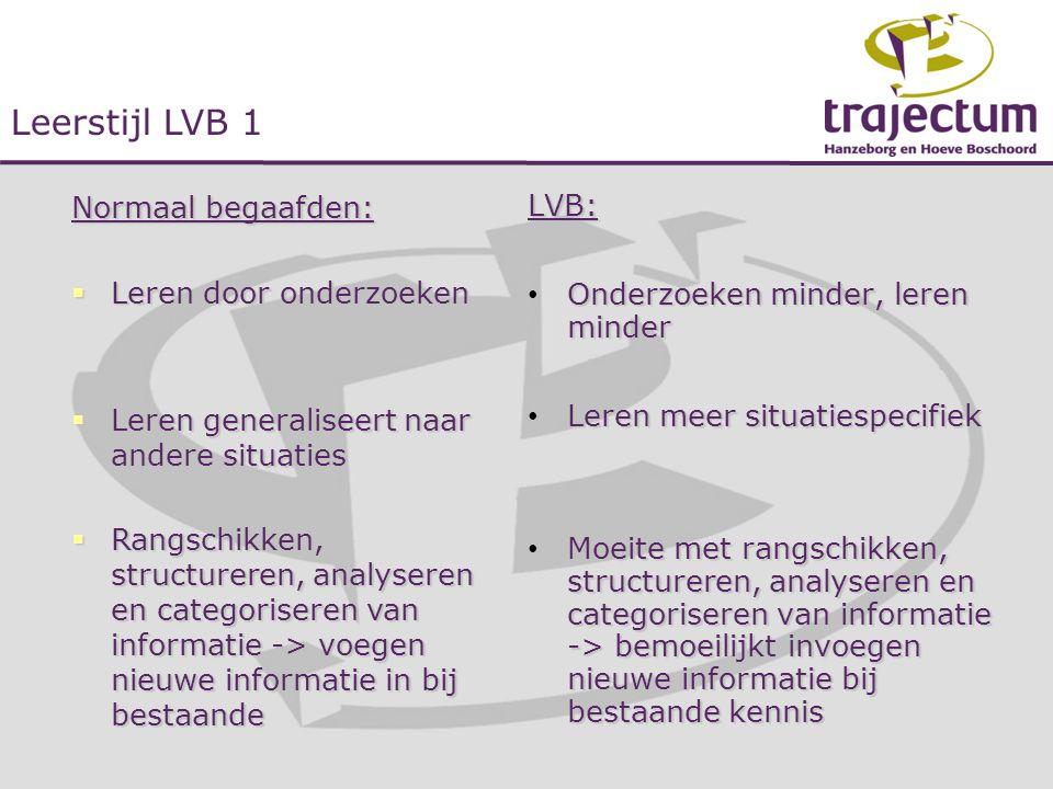 Leerstijl LVB 1 Normaal begaafden: Leren door onderzoeken