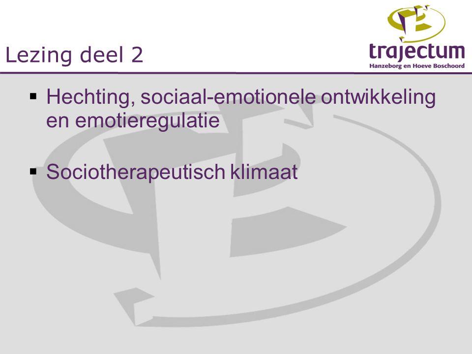 Hechting, sociaal-emotionele ontwikkeling en emotieregulatie