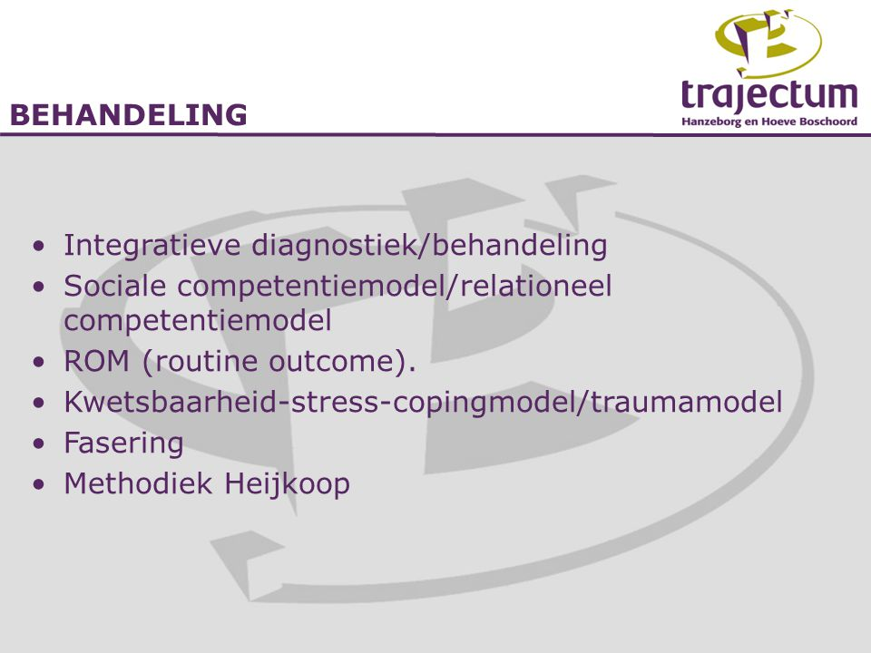 Integratieve diagnostiek/behandeling