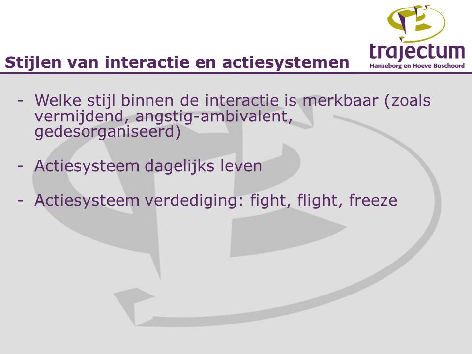 Stijlen van interactie en actiesystemen