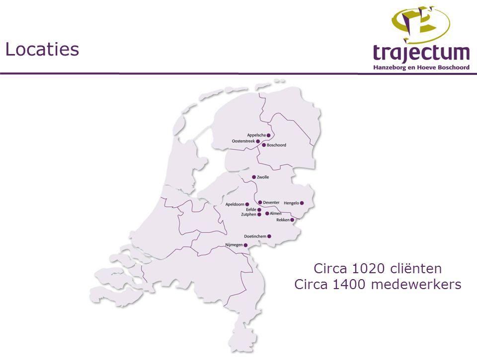 Locaties Circa 1020 cliënten Circa 1400 medewerkers
