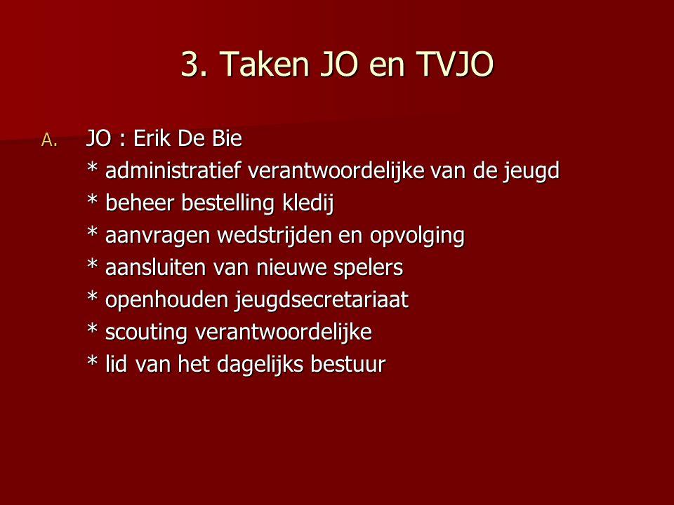 3. Taken JO en TVJO JO : Erik De Bie
