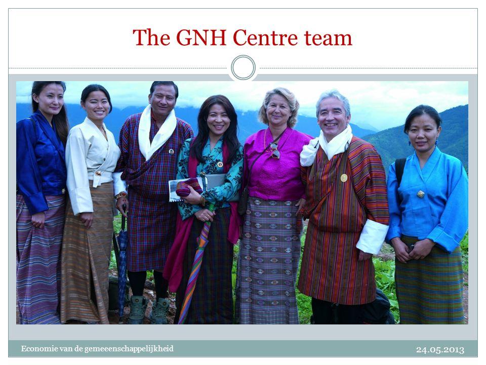 The GNH Centre team Economie van de gemeeenschappelijkheid 24.05.2013
