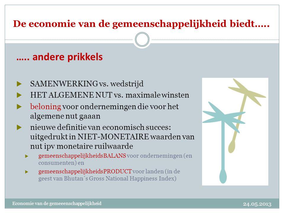 De economie van de gemeenschappelijkheid biedt…..