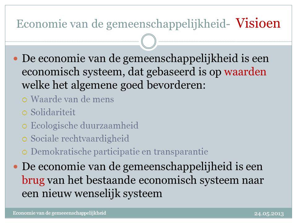 Economie van de gemeenschappelijkheid- Visioen