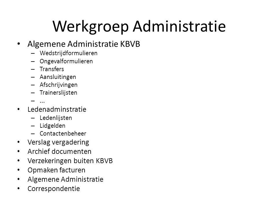 Werkgroep Administratie