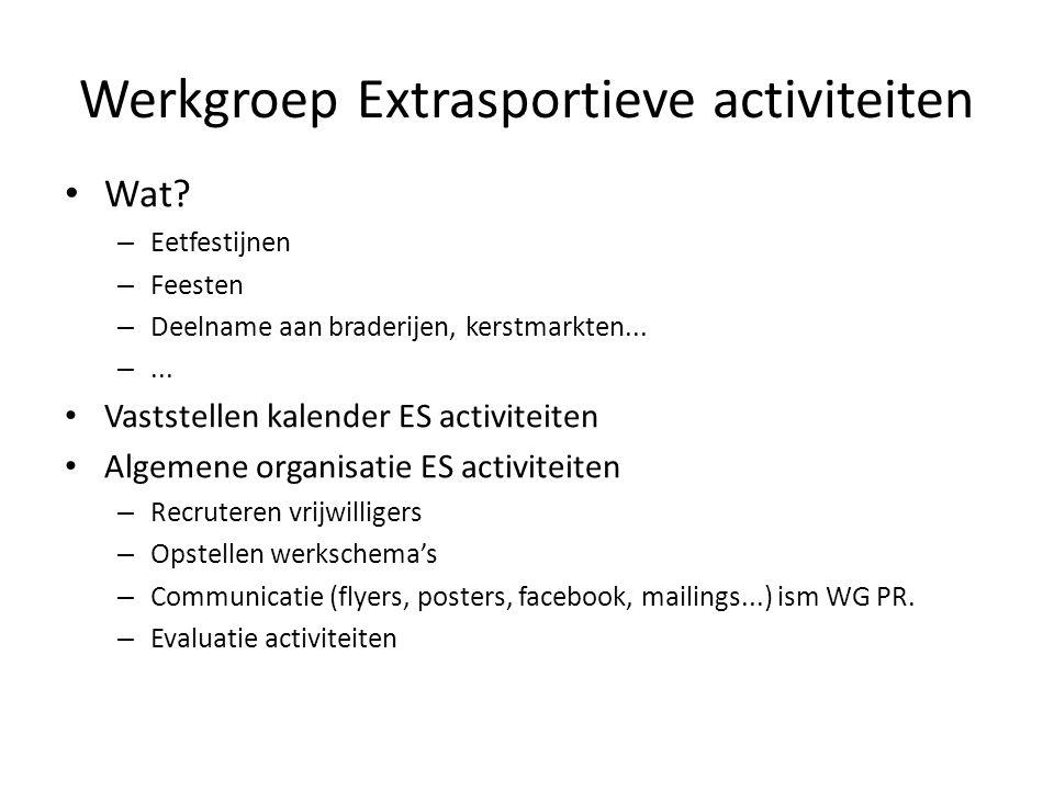 Werkgroep Extrasportieve activiteiten