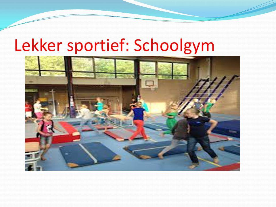 Lekker sportief: Schoolgym