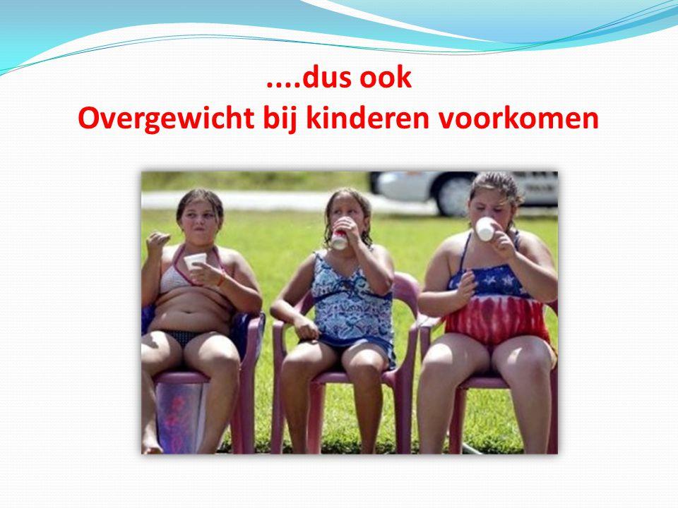 ....dus ook Overgewicht bij kinderen voorkomen
