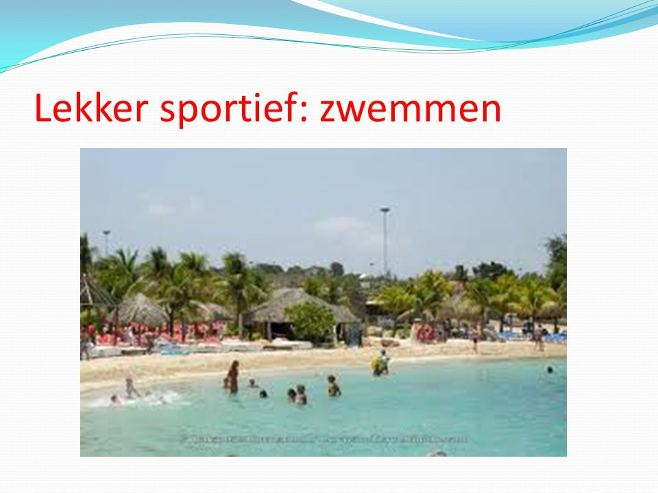 Lekker sportief: zwemmen