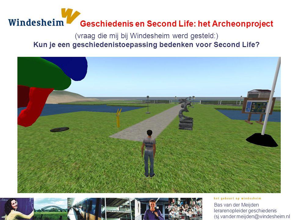 Kun je een geschiedenistoepassing bedenken voor Second Life