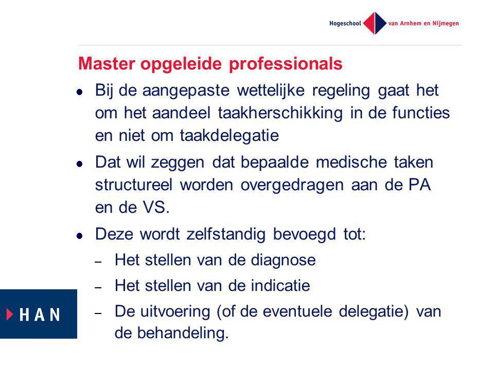 Master opgeleide professionals