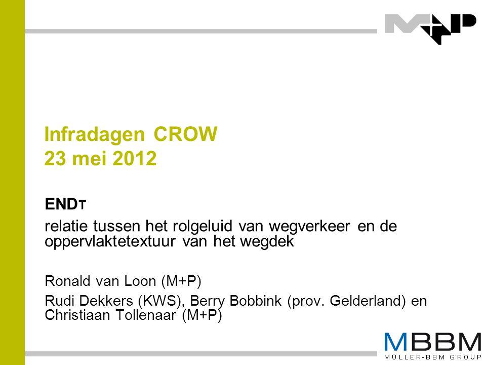 Infradagen CROW 23 mei 2012 ENDt