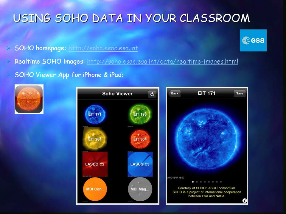 USING SOHO DATA IN YOUR CLASSROOM