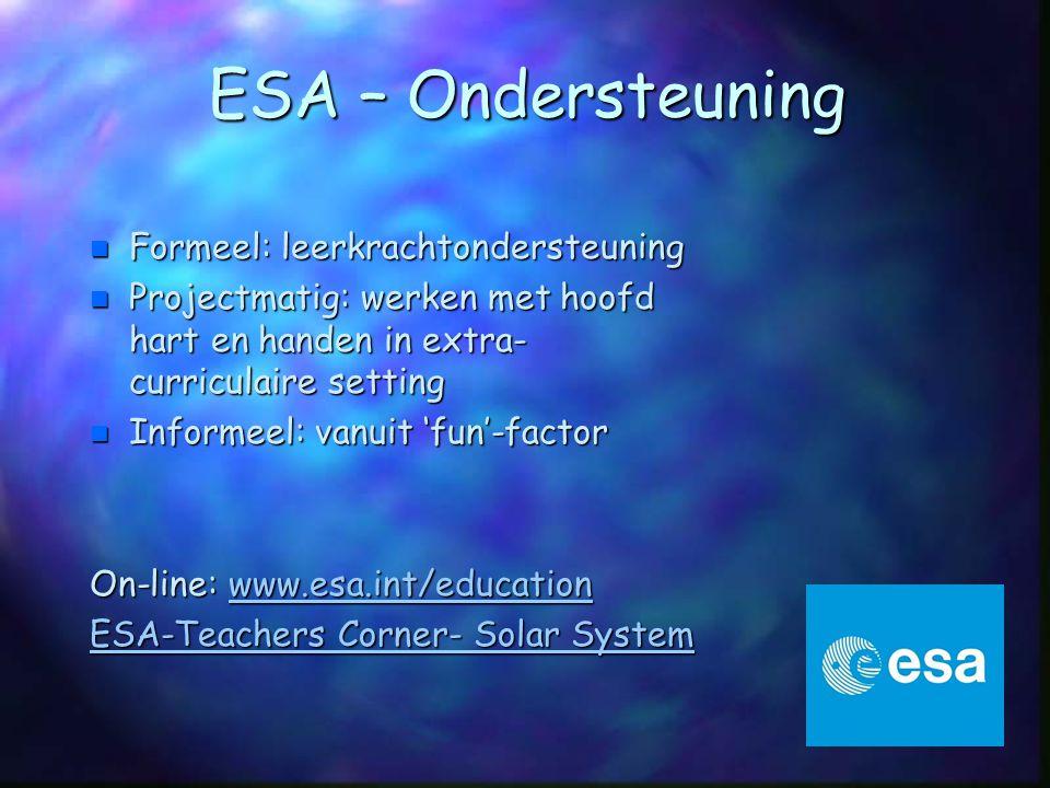 ESA – Ondersteuning Formeel: leerkrachtondersteuning