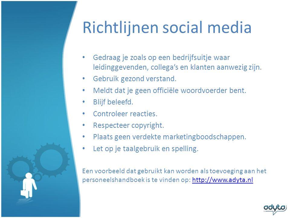 Richtlijnen social media