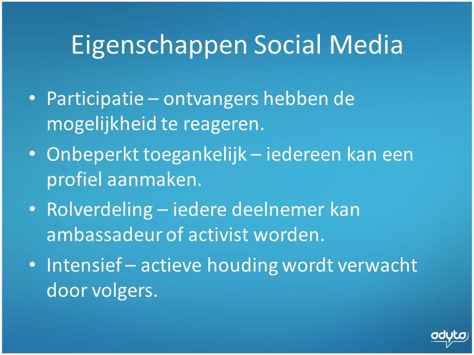 Eigenschappen Social Media