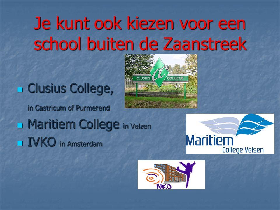 Je kunt ook kiezen voor een school buiten de Zaanstreek