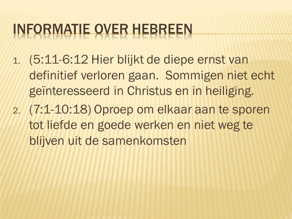 Informatie over hebreen