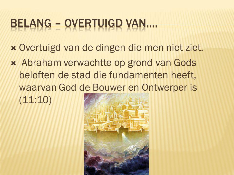 Belang – Overtuigd Van….