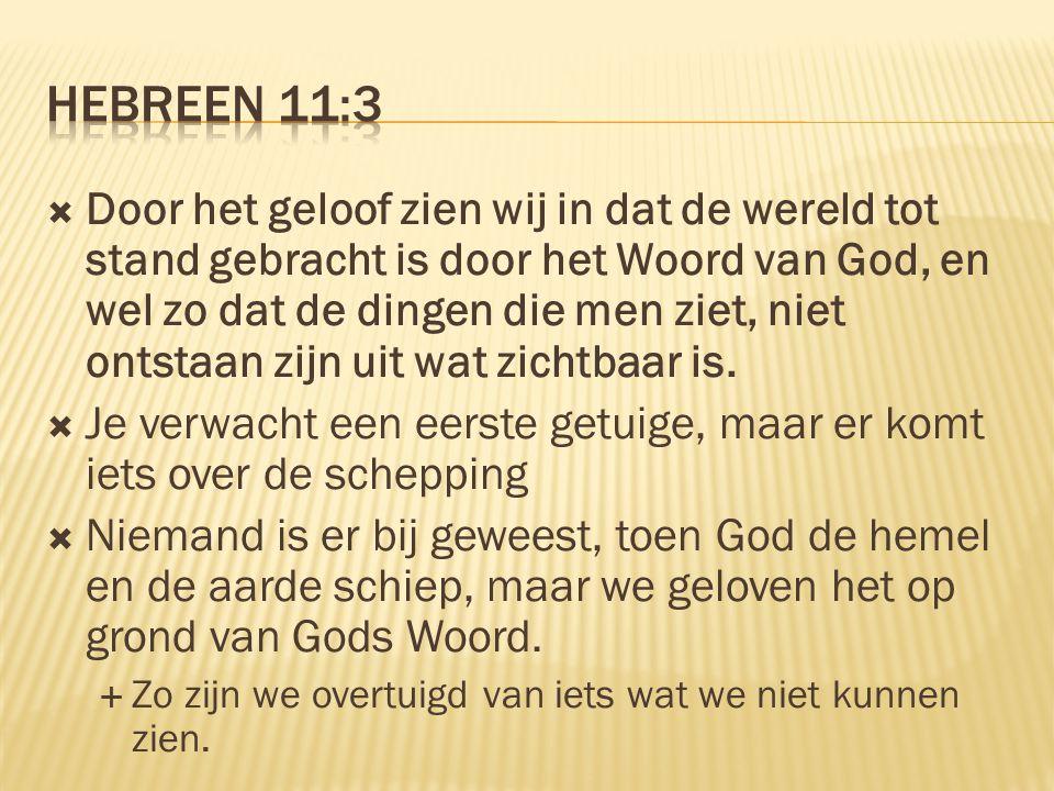 Hebreen 11:3