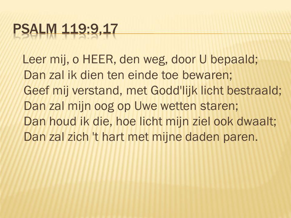Psalm 119:9,17