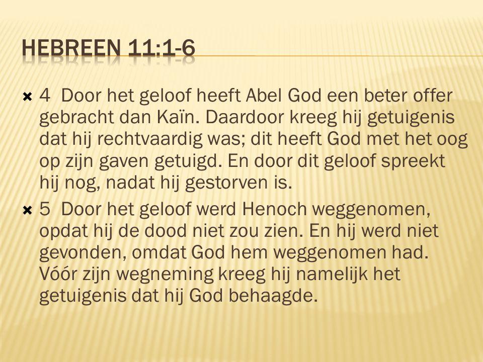Hebreen 11:1-6