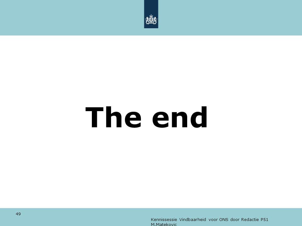 The end Kennissessie Vindbaarheid voor ONS door Redactie P51 M.Matekovic
