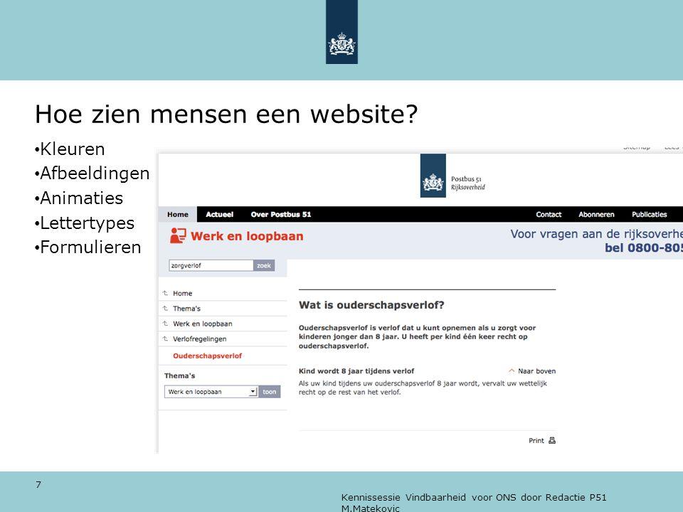 Hoe zien mensen een website