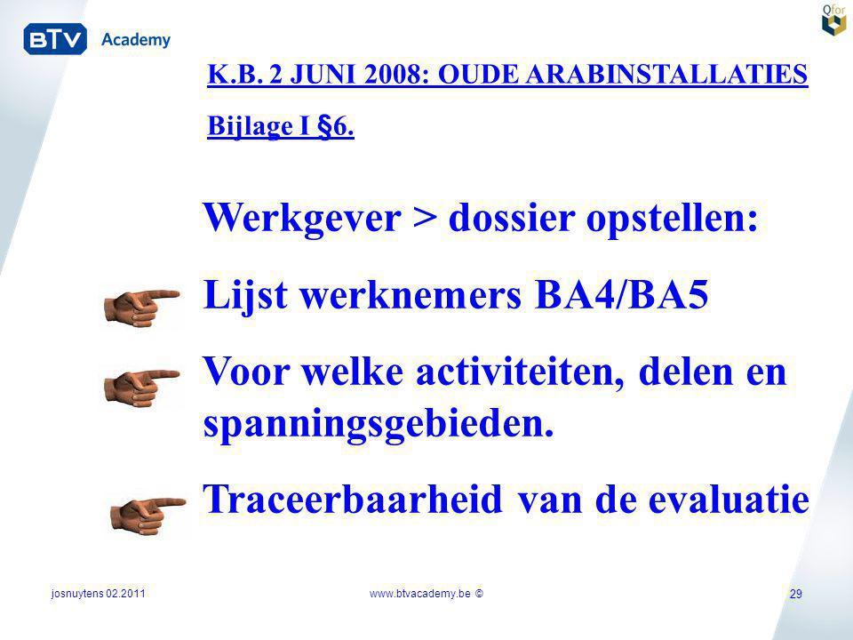 Werkgever > dossier opstellen: Lijst werknemers BA4/BA5