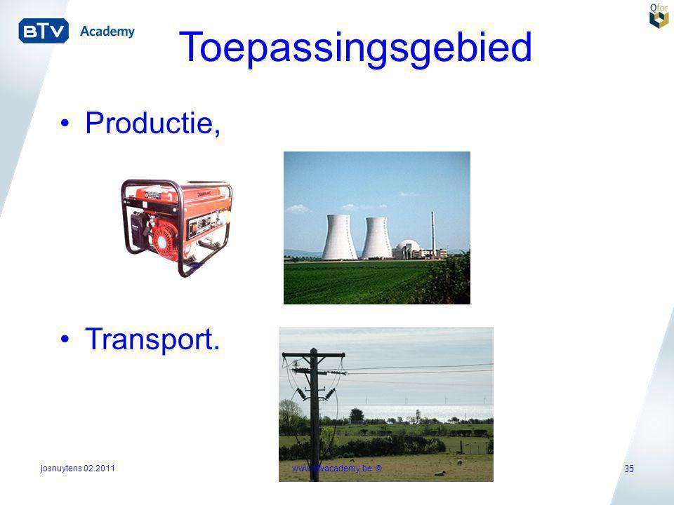 Toepassingsgebied Productie, Transport. josnuytens 02.2011