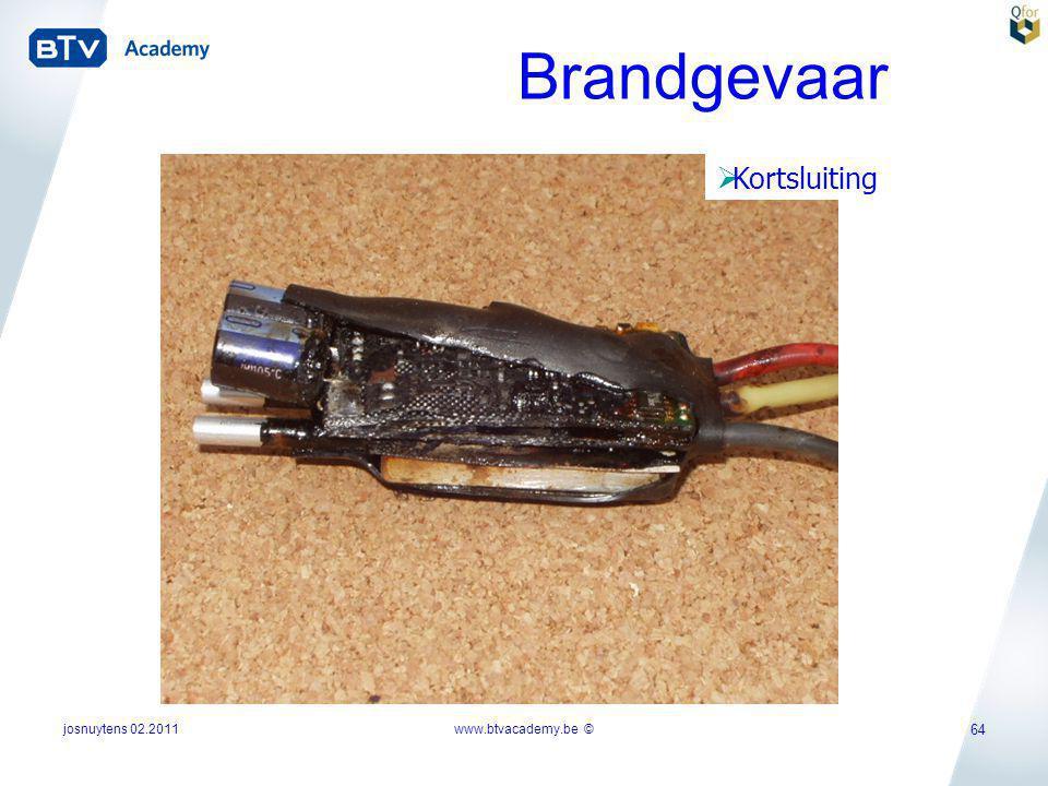 Brandgevaar Kortsluiting josnuytens 02.2011 www.btvacademy.be ©