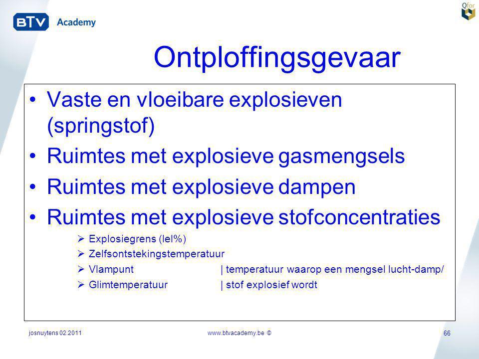 Ontploffingsgevaar Vaste en vloeibare explosieven (springstof)