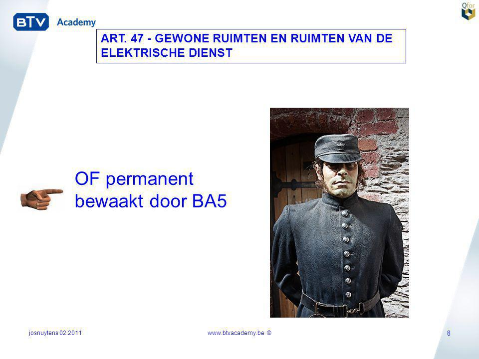 OF permanent bewaakt door BA5
