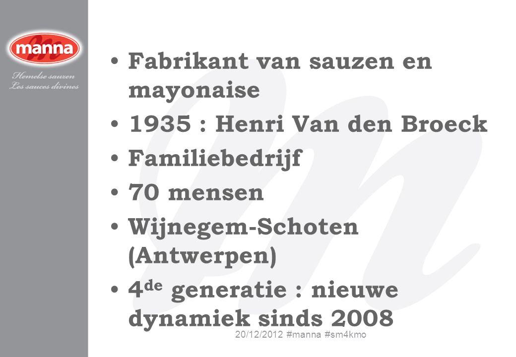 Fabrikant van sauzen en mayonaise 1935 : Henri Van den Broeck