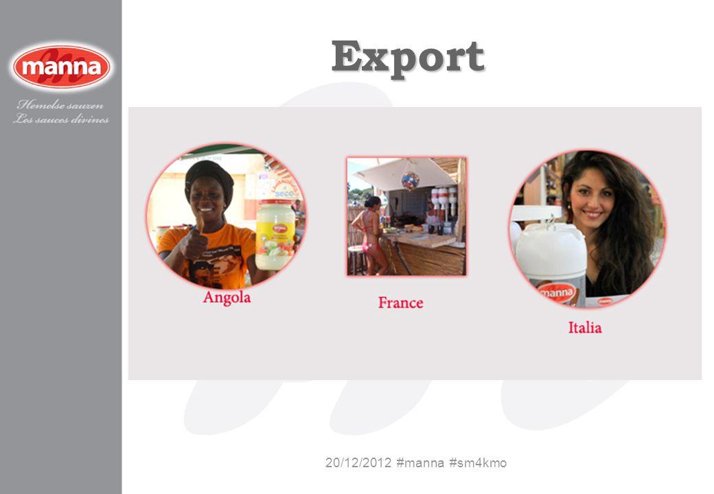 Export 20/12/2012 #manna #sm4kmo