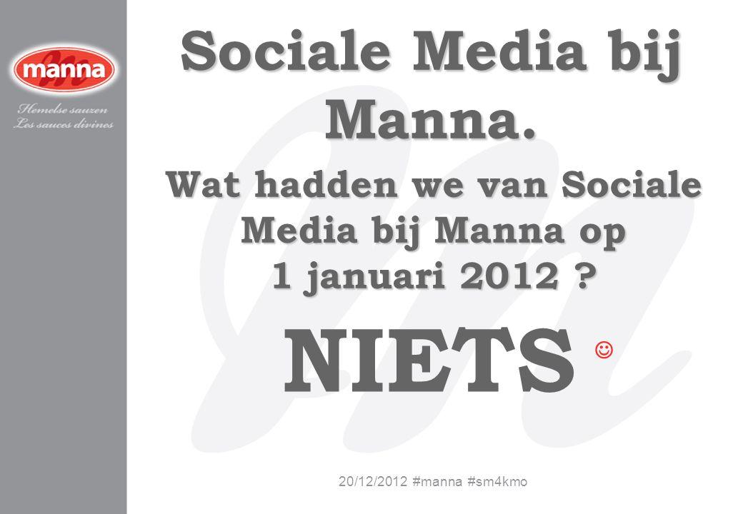 Wat hadden we van Sociale Media bij Manna op 1 januari 2012