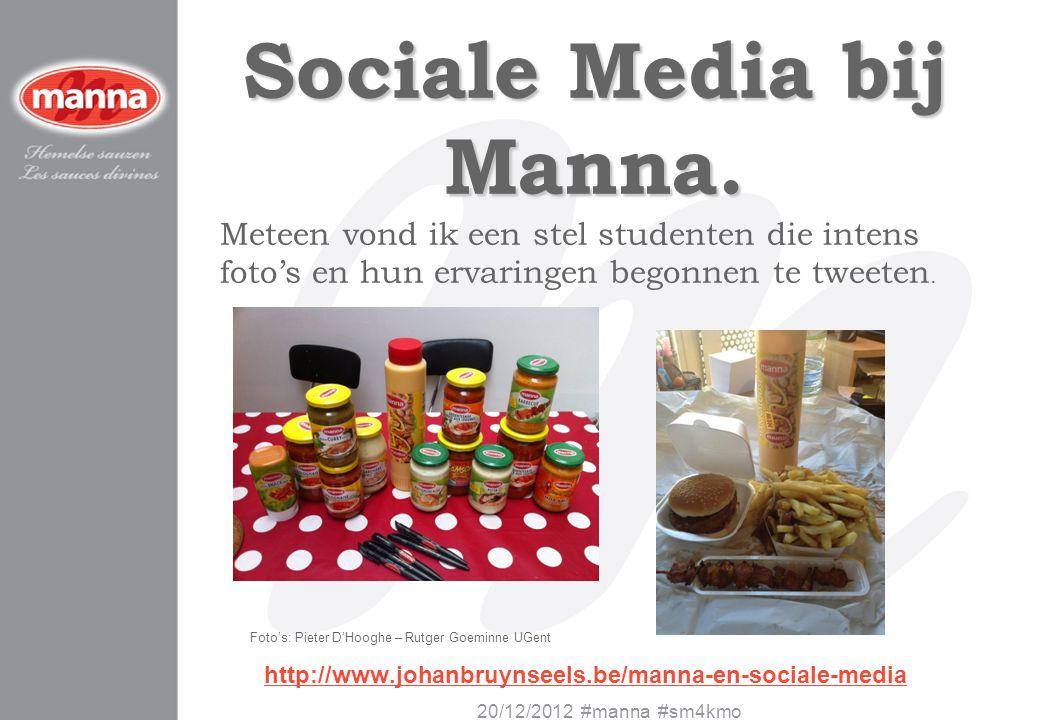 Sociale Media bij Manna.
