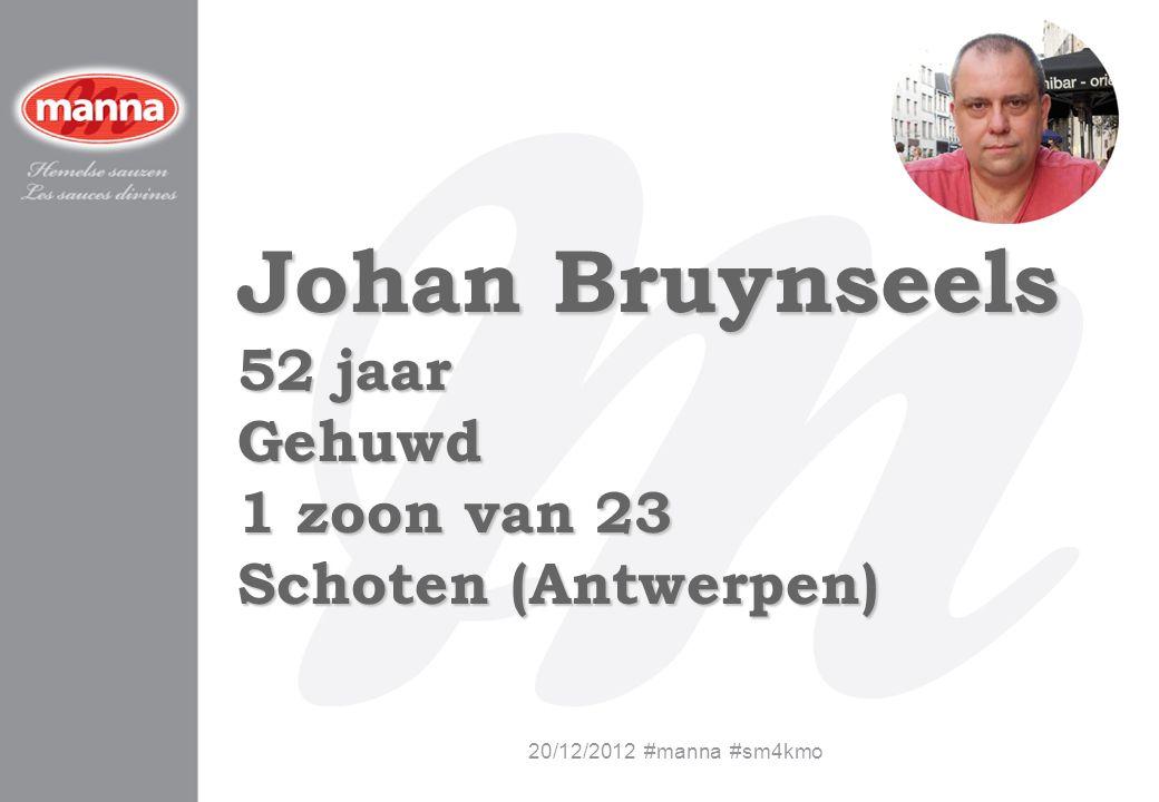 Johan Bruynseels 52 jaar Gehuwd 1 zoon van 23 Schoten (Antwerpen)