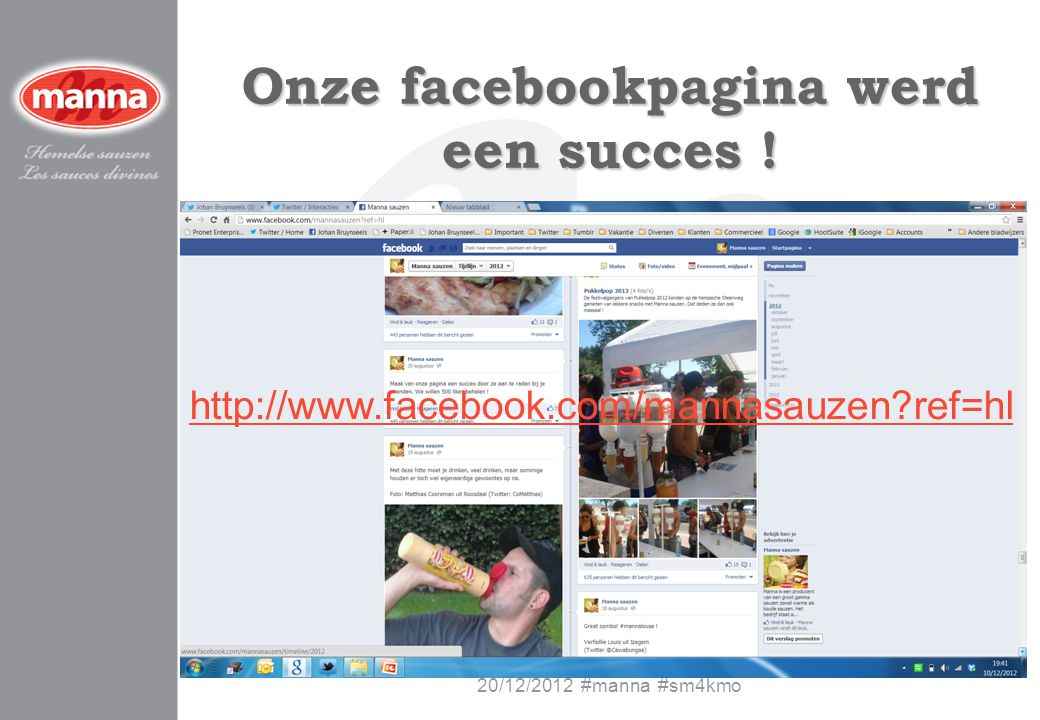 Onze facebookpagina werd een succes !