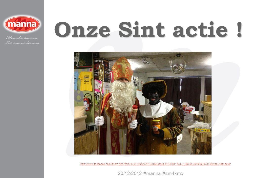 Onze Sint actie ! 20/12/2012 #manna #sm4kmo