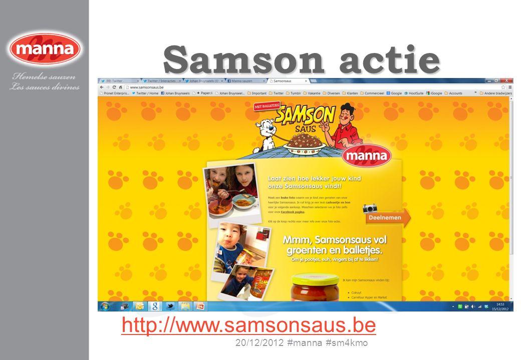 Samson actie http://www.samsonsaus.be 20/12/2012 #manna #sm4kmo