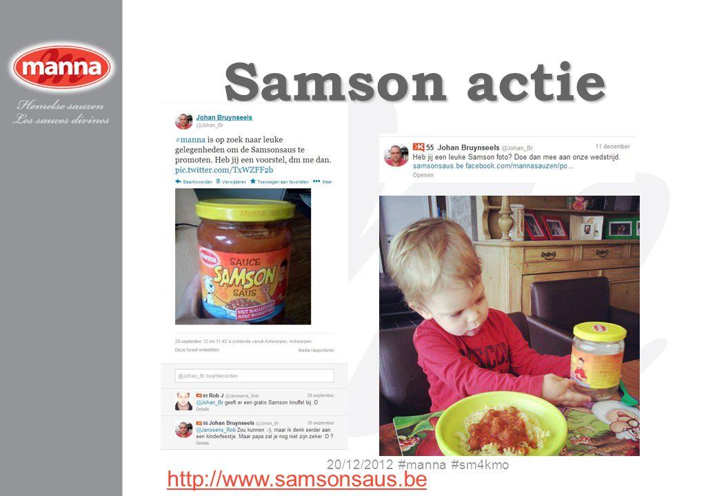 Samson actie 20/12/2012 #manna #sm4kmo http://www.samsonsaus.be